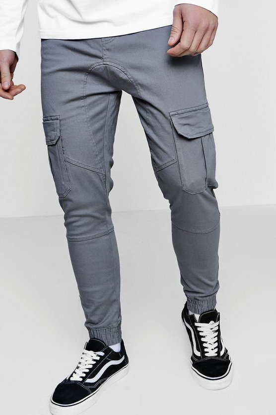 Slim Fit Cuffed Cargo Chino