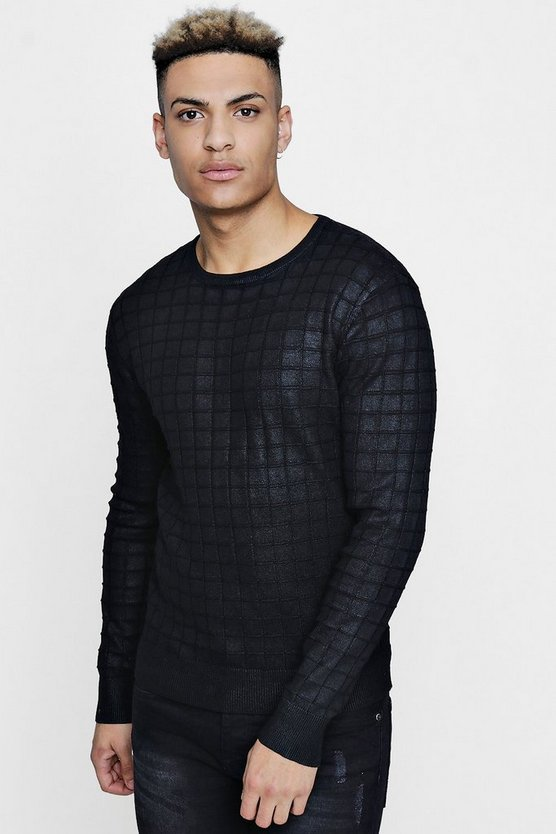 Muscle Fit Jacquard Jumper