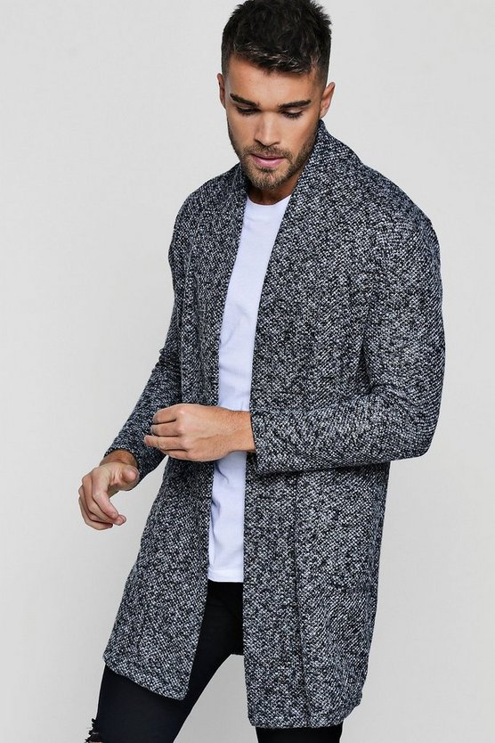 Salt And Pepper Unlined Knitted Jacket