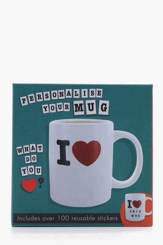 Valentines Personalised 'I Heart' Mug