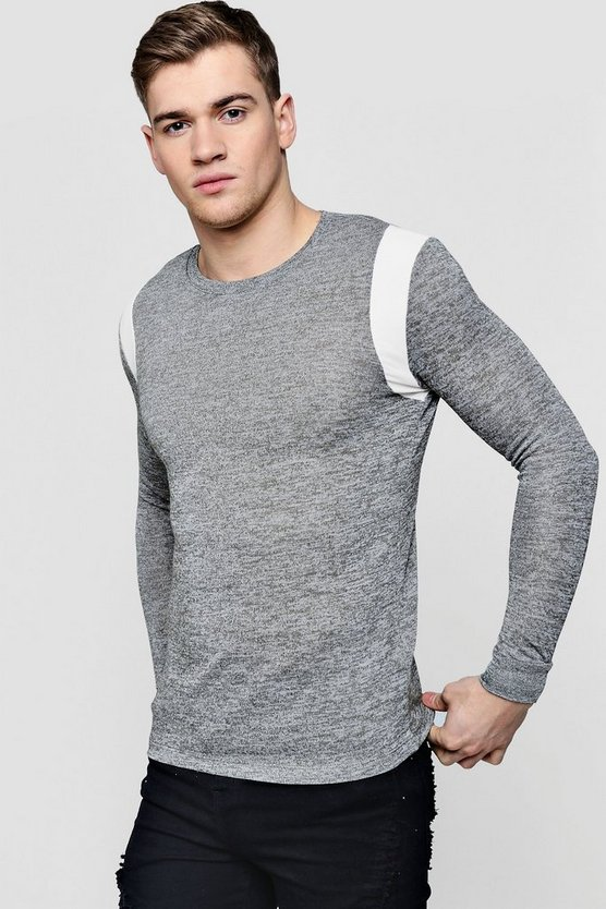 Lightweight Muscle Fit Jumper With Shoulder Panel