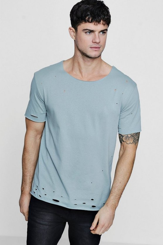 Raw Edge Distressed T-Shirt