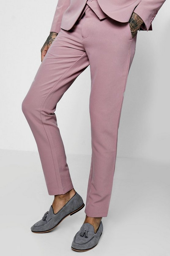 Skinny Fit Stretch Suit Trousers