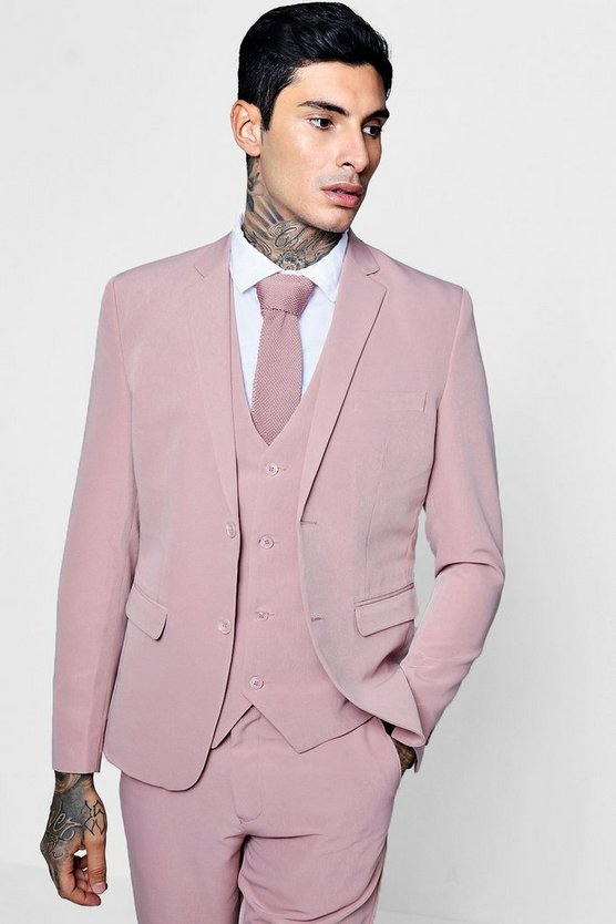 Skinny Fit Stretch Suit Jacket