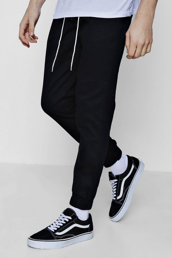 Slim Fit Woven Jogger with Contrast Drawcord