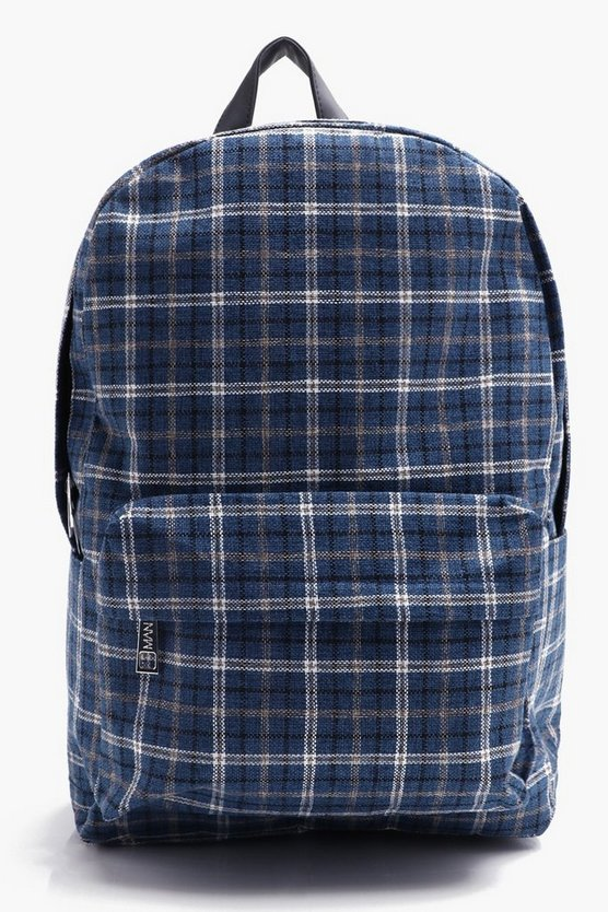 Canvas Check Rucksack