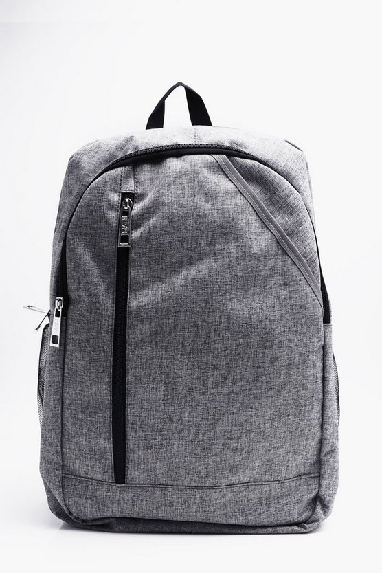 Textured Multi Pocket Rucksack