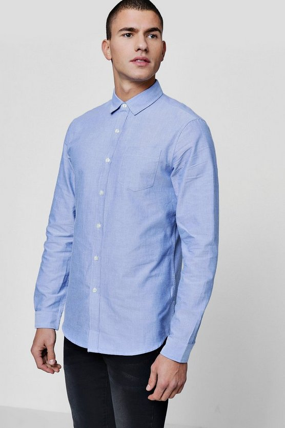chemise oxford blanche manches longues