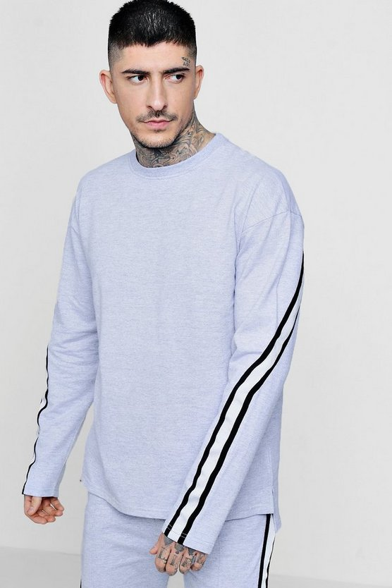 Drop Shoulder Taped Crew Neck Sweater Co-ord