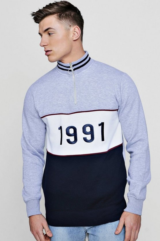 """""1991"""" Zip Placket Fleece Track Top Co-ord"