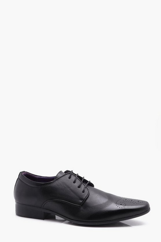 Punched Brogue Detail Smart Shoes