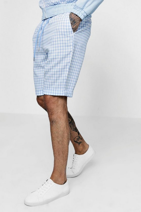 Window Pane Check Tailored Shorts