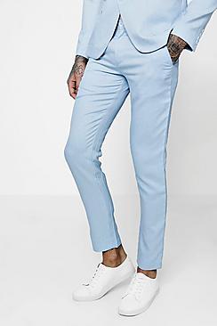 Pantaloni da completo sartoriale con stretti in fondo a vestibilità Slim