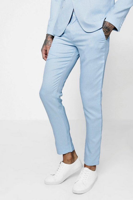 Tapered Slim Fit Tailored Suit Trousers