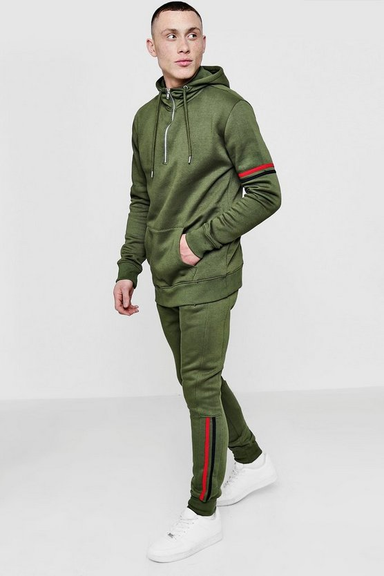 Over The Head Tracksuit With Zip Placket