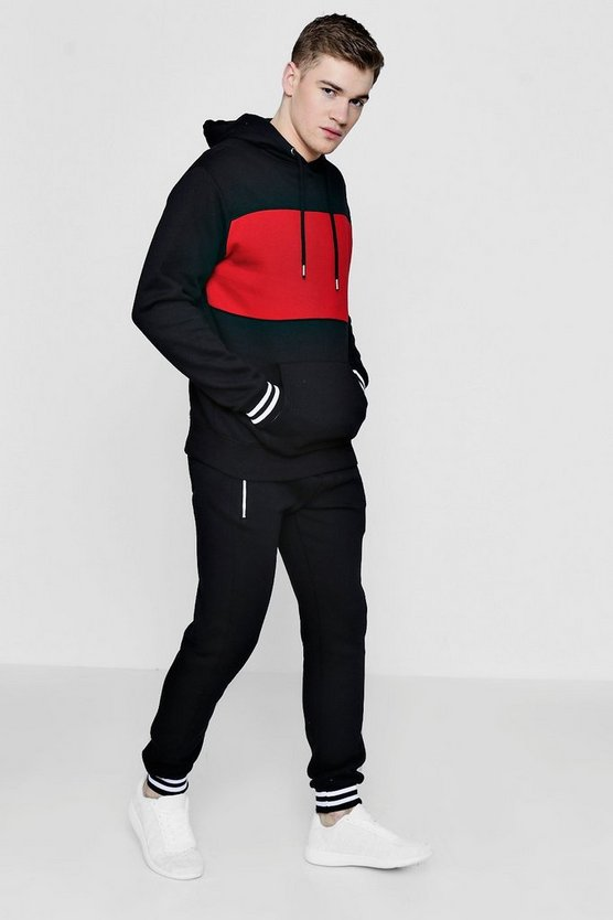 Over The Head Panel Tracksuit With Sports Rib