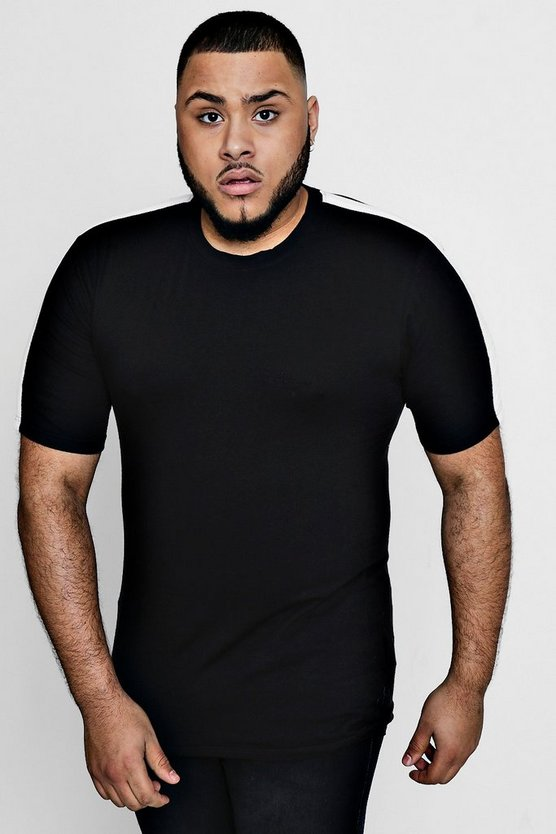 Big And Tall Slim Fit Panelled T-Shirt