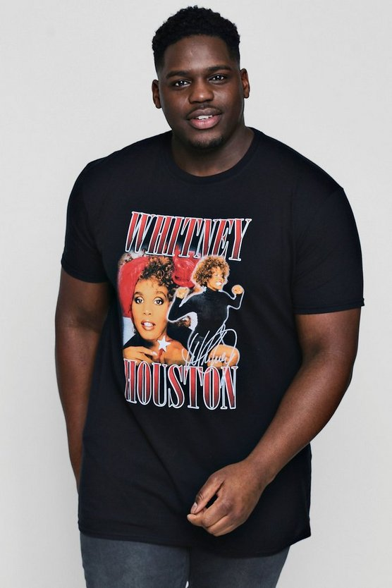 Big And Tall Whitney Houston License T-Shirt