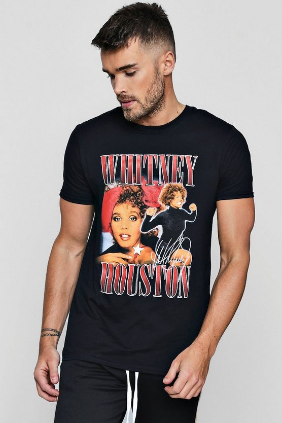 Whitney Houston License Print T-Shirt