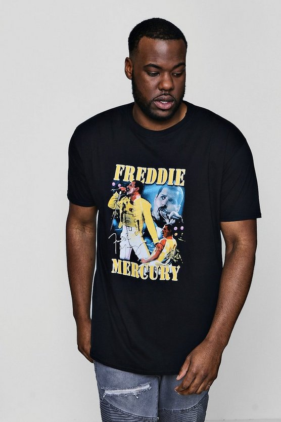 Big And Tall Freddie Mercury License T-Shirt