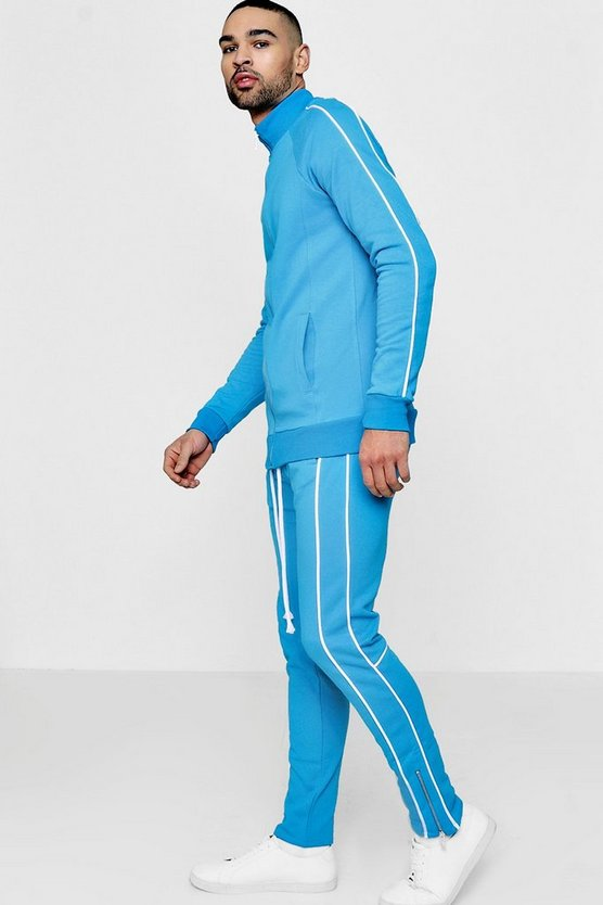 Skinny Fit Pipped Tracksuit