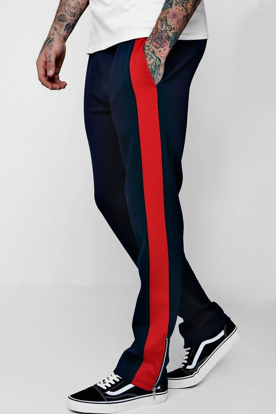 Wide Fit Panel Tricot Joggers