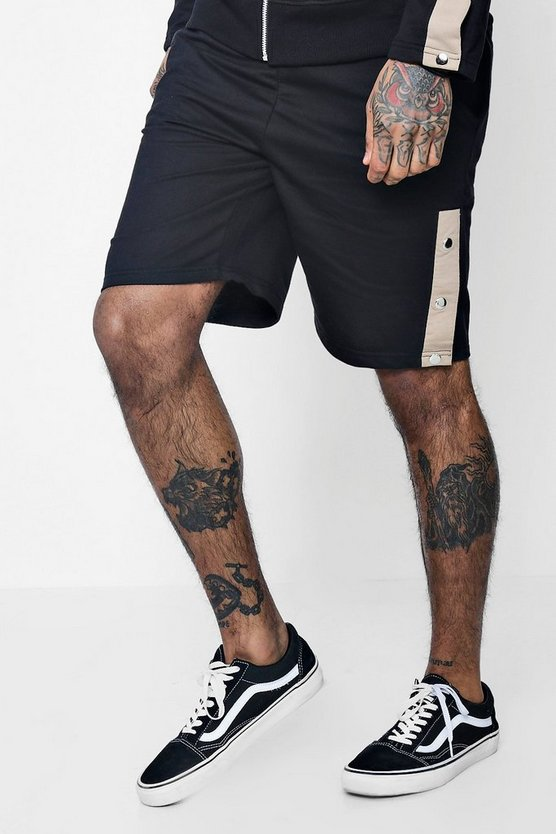 Jersey Shorts With Poppers Co-ord