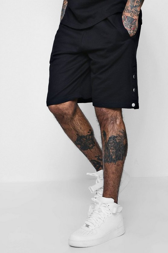Jersey Popper Basketball Shorts Co-ord