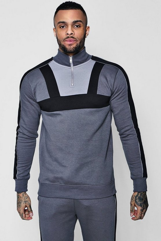 Colour Block Jersey Track Top Co-ord