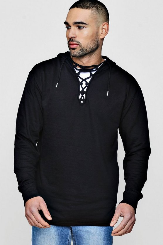 Lace Neck Hoodie