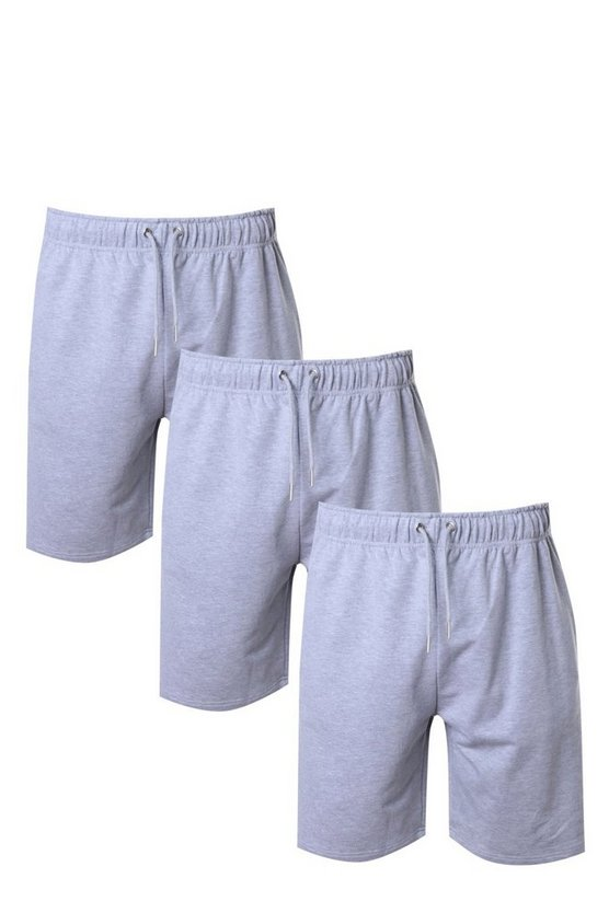3 Pack Jersey Mid Length Shorts