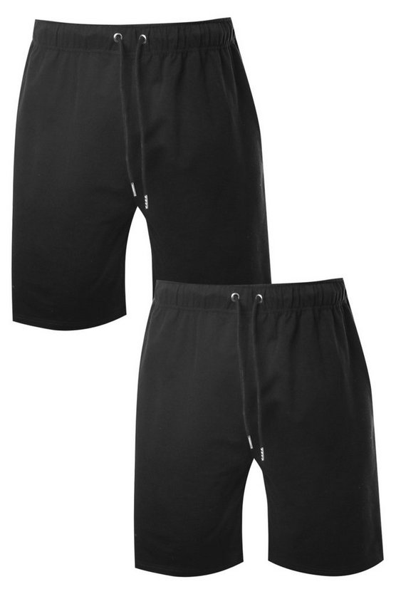 2 Pack Jersey Mid Length Shorts