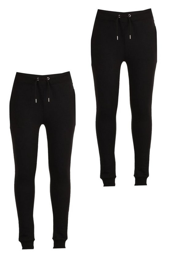2 Pack Jersey Joggers in Super Skinny Fit