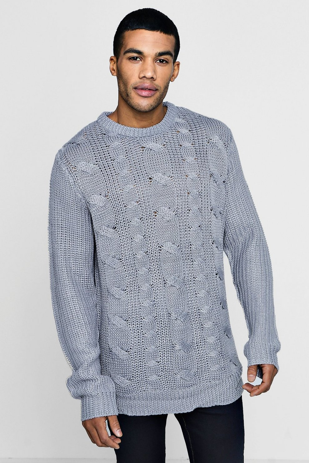 Chunky Cable Knit Jumper Boohoo