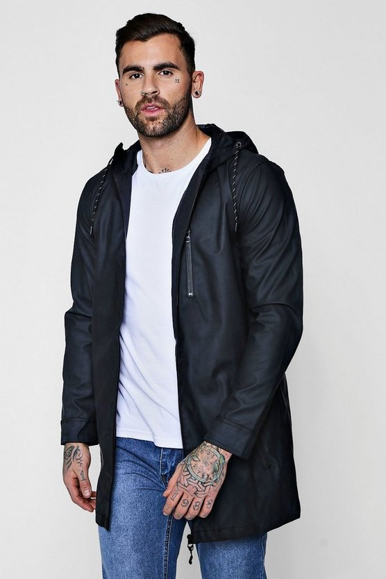 Rubberised Hooded Unlined Parka