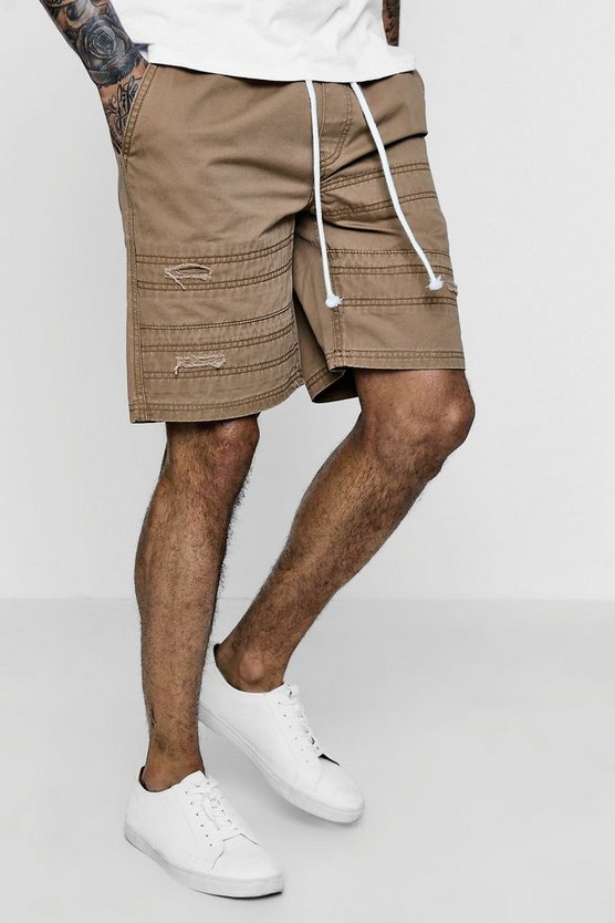 Cotton Twill Cargo Shorts