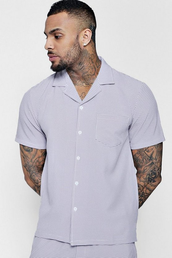 Check Revere Short Sleeve Shirt Co-ord