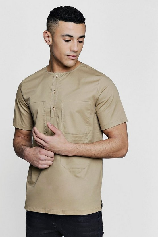 Four Pocket Short Sleeve Utility Shirt