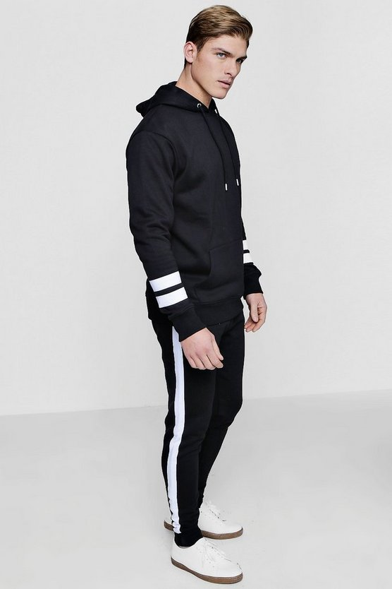 Fleece Colour Block Tracksuit