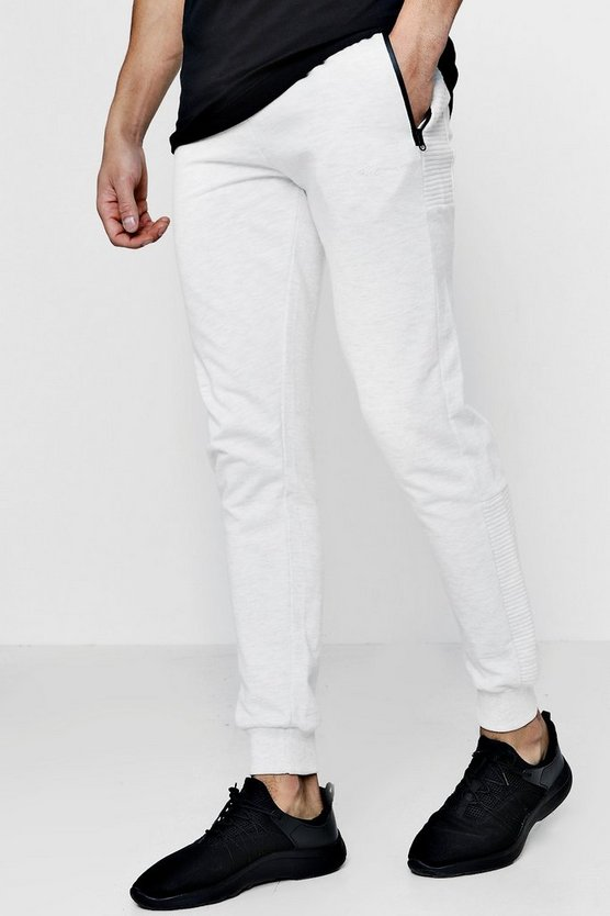 MAN Signature Biker Panelled Joggers With Sports Zip