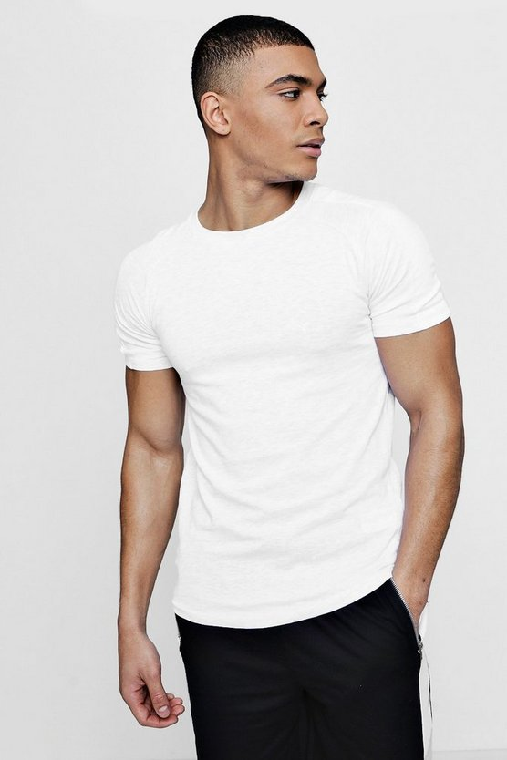 MAN Signature Muscle Fit T-Shirt With Contrast Panel