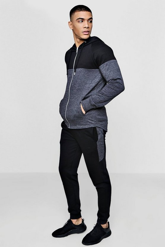MAN Signature Muscle Fit Raglan Tracksuit
