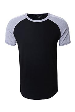 MAN Signature Muscle Fit Contrast Raglan T-Shirt