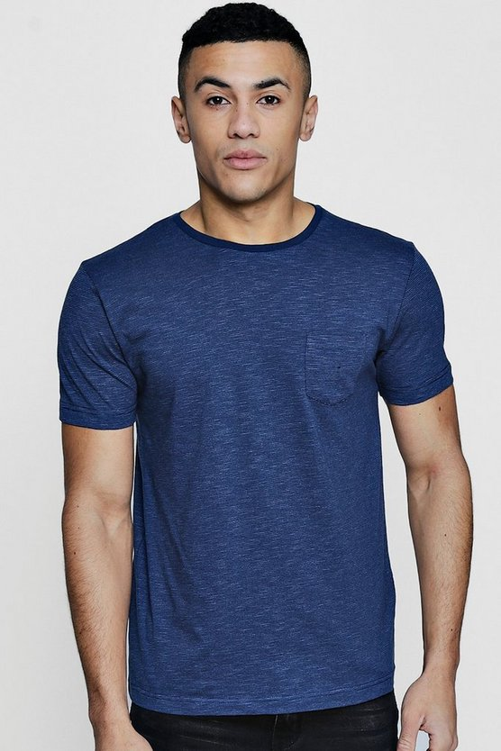 Crew Neck T-Shirt With Fine Stripe