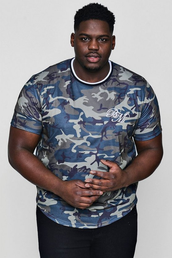Big And Tall Camo MAN Sublimation T-Shirt