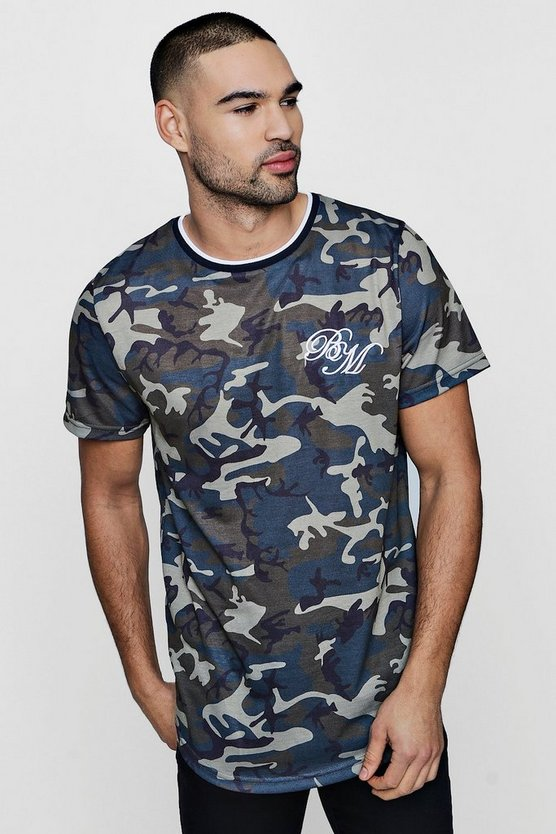 MAN Camo Sublimation T-Shirt With Curve Hem