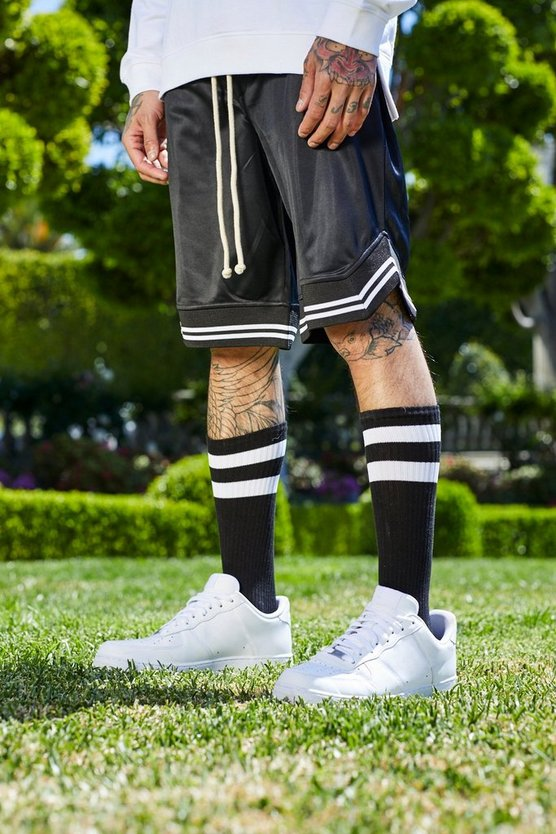 French Montana Basket Ball Shorts With Sports Rib
