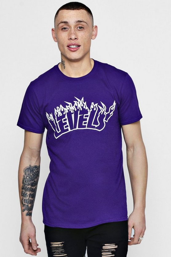 Levels Flame Print T-Shirt