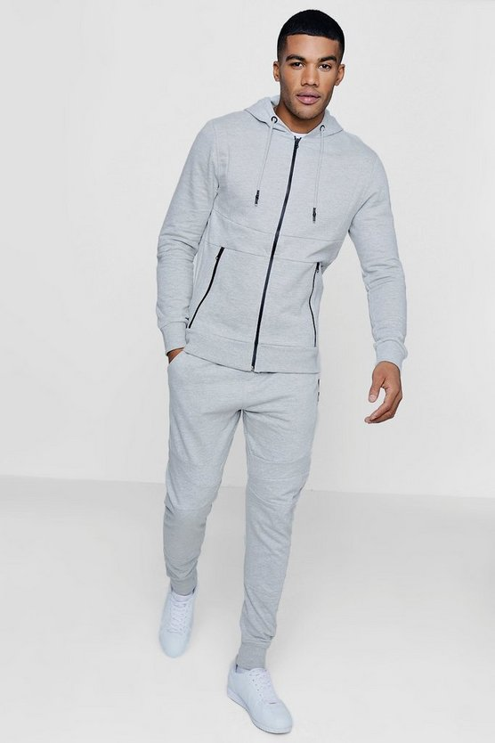 Skinny Fit Tracksuit With Panels