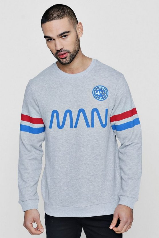 MAN Sweater With Sports Stripe
